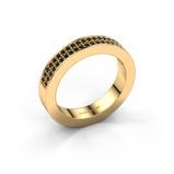 Afbeelding vanAanschuifring Catharina 2 585 goud zwarte diamant 0.352 crt