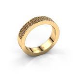 Afbeelding vanAanschuifring Catharina 4 375 goud bruine diamant 0.36 crt