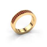 Afbeelding vanAanschuifring Catharina 4 375 goud robijn 1.3 mm