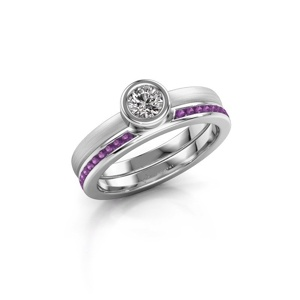 Abbildung von Ring Cara 950 Platin Amethyst 4 mm