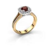 Bilde avEngagement ring Carolina 2 585 gold Garnet 5 mm