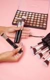Εικόνα του10 Piece Kabuki Makeup Brush Set with 120 Fusion Eyeshadow Palette Bundle