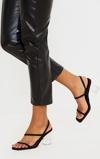 Kép:Black Square Toe Clear Low Block Heel Sandals