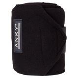 Image deAnky Bandages Basic Fleece Jeu de 4 Noir 3,5m