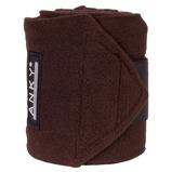 Image deAnky Bandages Basic Fleece Jeu de 4 Chocolat 3,5m