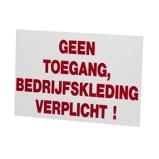Afbeelding vanAgradi Bord PVC Geen Toegang Bedrijfskleding Verplicht