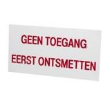 Afbeelding vanAgradi Bord PVC Geen Toegang Eerst Ontsmetten 20x40cm