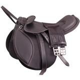 Abbildung vonPremiere Sattel Pony Leder Bügelriemen Schwarz 12 inch