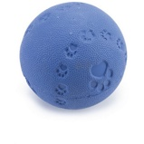 ObrázekBeeztees Ball Rubber with a Squeaker Blue 7,5cm