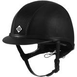 ObrázekCharles Owen Safety Cap AYR8 PLUS Leather Look Black 56cm
