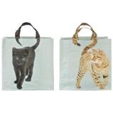 Image ofEsschert Shopping Bag Cats Tail Colourd