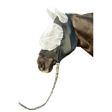 Image of HKM Fly Mask Extra Soft and Elastic White/Black S