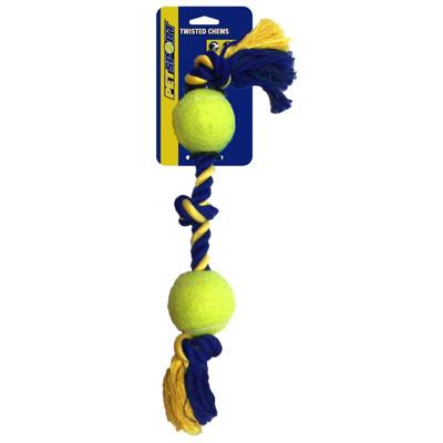 Obrázek Agradi 3 Knot Cotton Rope with 2 Tuff Balls 6cm