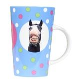 Afbeelding vanRed Horse Mok Latte Macciato Met Grappige Paardenfoto