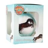 Afbeelding vanRed Horse Kerstbal met Paard Iceblue