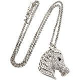 Afbeelding vanRed Horse ketting paard zilver met diamantjes 4,5 cm