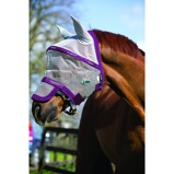 ObrázekRambo by Horseware Flymask Plus Vamoose Silver/purple Full