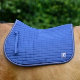 Image ofBucas Saddle Pad Max Dressage Navy Silver