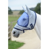Image ofBucas Buzz Off Flymask Delux with Ears Blue L