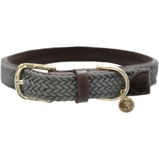 Image ofKentucky Collar Plaited Nylon Grey 42cm