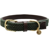 ObrázekKentucky Collar Plaited Nylon Olive Green 42cm