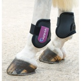 Billede afArma by Shires Fetlock Boots Black/Plum Cob/Full