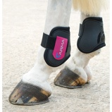 Billede afArma by Shires Fetlock Boots Black/Raspberry Cob/Full