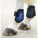 Billede afArma by Shires Fetlock Boots Black Blue Cob/Full