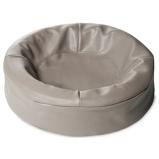Bild avBia Bed Cover Dog Basket Art Leather Taupe 0 50X50cm Round