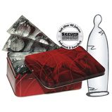 Abbildung von50 transparente dünne Kondome Latex