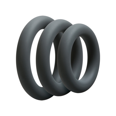 Image of 3 C Ring Set Thick Slate