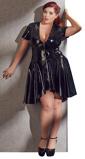 Abbildung vonLack Kleid in Schwarz