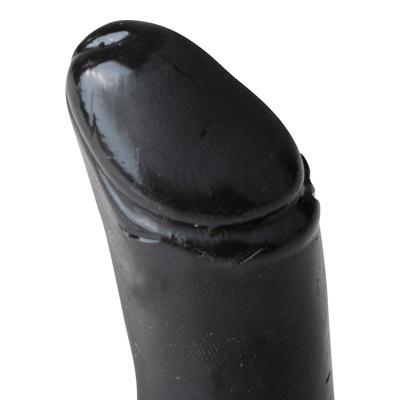 Image of All Black Realistic Dildo Black Extra Small