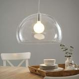 Afbeelding vanKartell designer LED hanglamp FL/Y, transparant, voor woon / eetkamer, pmma, E27, 15 W, energie efficiëntie: A, H: 33 cm