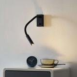 Afbeelding vanACB ILUMINACIÓN met schakelaar LED wandlamp Cio leesarm, voor slaapkamer, metaal, 3 W, energie efficiëntie: A+
