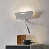 Afbeelding vanACB ILUMINACIÓN ariel witte LED wandlamp met leeslamp, voor slaapkamer, metaal, 11 W, energie efficiëntie: A+, B: 32 cm, H: 44 cm