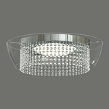 Afbeelding vanACB ILUMINACIÓN sprankelende LED plafondlamp Ital, voor woon / eetkamer, metaal, glas, kristal, 32 W, energie efficiëntie: A+, H: 13 cm