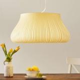 Afbeelding vanACB ILUMINACIÓN hanglamp Nanok met 1 lampje, voor woon / eetkamer, textiel, acryl, metaal, E27, 20 W, energie efficiëntie: A++