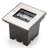 Afbeelding vanKonstmide malte LED grondspot met flex. Lichtuitvoer, 6 W, aluminium, glas, 2 energie efficiëntie: A+, L: 14.5 cm, B: 13.5 H: 1 cm