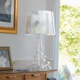 Afbeelding vanKartell led design tafellamp Bourgie, transparant, voor woon / eetkamer, kunststof, E14, 3.6 W, energie efficiëntie: A, H: 78 cm