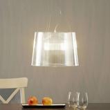 Afbeelding vanKartell transparante LED hanglamp Gè, voor woon / eetkamer, polycarbonaat, E27, 12 W, energie efficiëntie: A, H: 26 cm