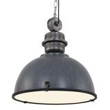 Afbeelding vanSteinhauer BV grijze hanglamp Bikkel XXL in industrieel ontwerp, voor woon / eetkamer, metaal, E27, 60 W, energie efficiëntie: A++