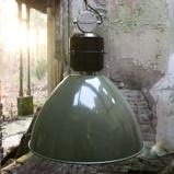 Afbeelding vanSikrea olijfgroene pendellamp Frisk in industr. ontwerp, voor woon / eetkamer, metaal, E27, 60 W, energie efficiëntie: A++, H: 49 cm