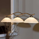 Afbeelding vanSteinhauer BV 3 lichts hanglamp Capri, voor woon / eetkamer, glas, metaal, E27, 60 W, energie efficiëntie: A++, L: 115 cm, B: 30 cm
