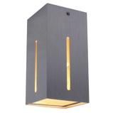 Afbeelding vanSikrea plafondlamp IKARO eenvoudig en functioneel alu, voor woon / eetkamer, aluminium, glas, E27, 40 W, energie efficiëntie: A++, L: 10 cm, B: H: 16 cm