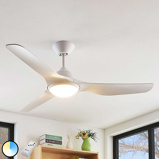 Image ofCeiling fan white incl. LED and remote control - Pira