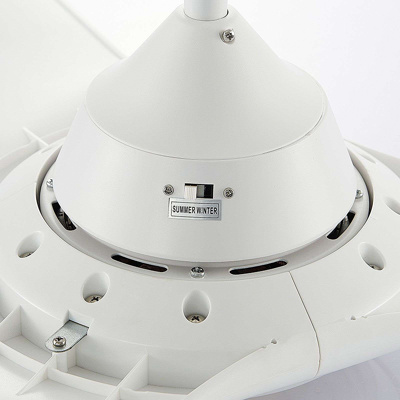 Image of Ceiling fan white incl. LED and remote control - Pira