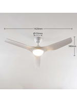 Thumbnail of Ceiling fan white incl. LED and remote control - Pira