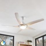 Image ofCeiling fan white incl. LED and remote control - Dora