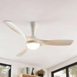 Image ofCeiling fan white incl. LED and remote control - Borga